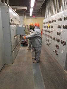 Duke Employees Testing in Industrial Area